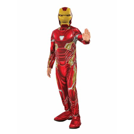Marvel Avengers Infinity War Iron Man Boys Halloween Costume - Male Halloween Makeup With Beard