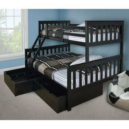 Versaloft Mission Twin Over Full Bunk Bed Walmart Com