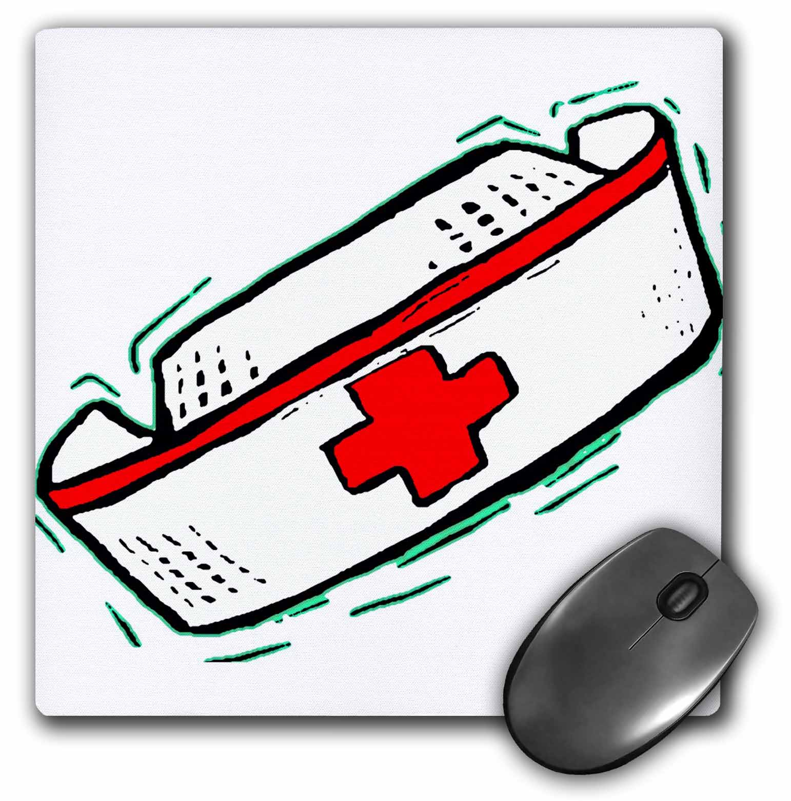 3dRose Nurses Cap, Mouse Pad, 8 by 8 inches