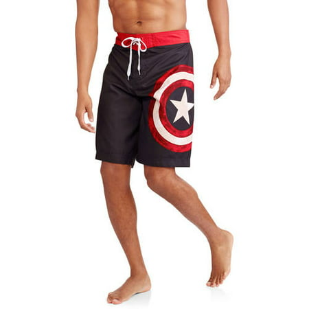 886b4471d323d Iron Man - Captain America Men's Fixed Waist Board Shorts - Walmart.com