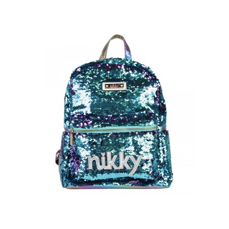 Glitter Sequins Fashion Casual Travel Backpack (Laptop Backpack Nicole Lee)