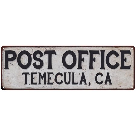 Temecula, Ca Post Office Personalized Metal Sign Vintage 6x18 106180011242