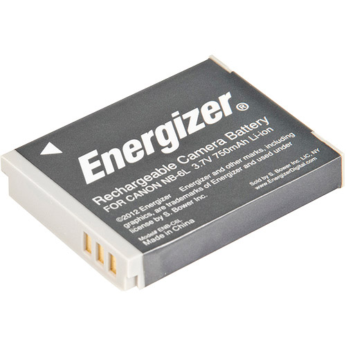 Energizer ENB-C6L Digital Replacement Battery NB-6L for Canon PowerShot SD4000, D10 and IXUS 85 IS (Black) by Energizer