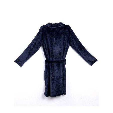 Frobukio Mens Cotton Terry Towelling Shawl Bathrobe Dressing Gown Bath Robe