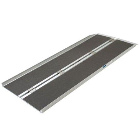 Aluminum Folding Ramps >> Zimtown 6 Ft Aluminum Loading Ramp Folding Wheelchair Scooter Mobility Portable Non Slip