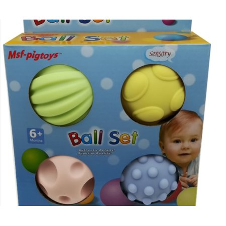 4pcs/set Baby Touch Training Educational Toys Thickened Explosion-proof Massage Ball (Best Generic Toddlers Toys)