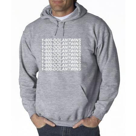 ef3191616 Trendy USA 761 - Adult Hoodie 1-800-DOLANTWINS Dolan Twins Sweatshirt 2XL  Heather Grey - Walmart.com