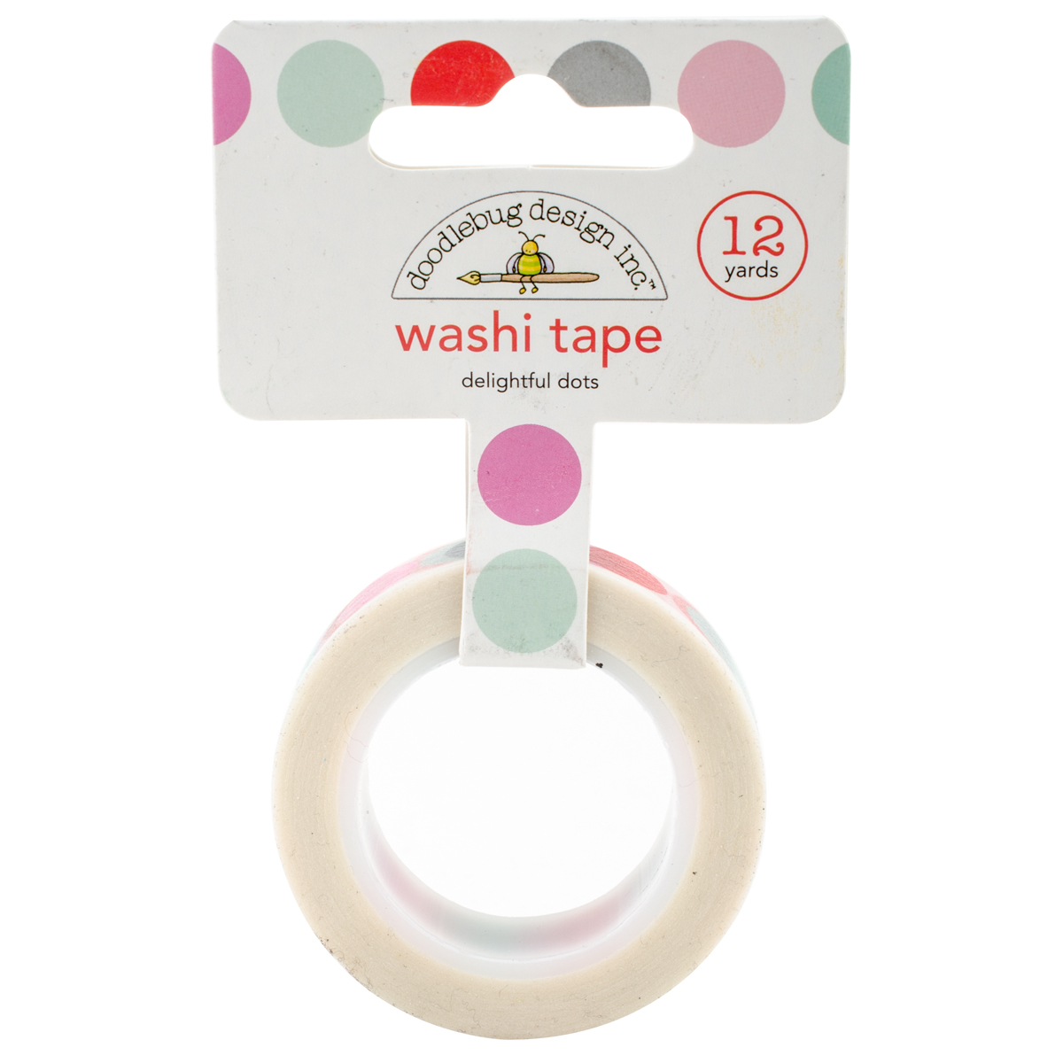 Doodlebug Washi Tape 15mm X 12yd-Sweet Things Delilghtful Dots