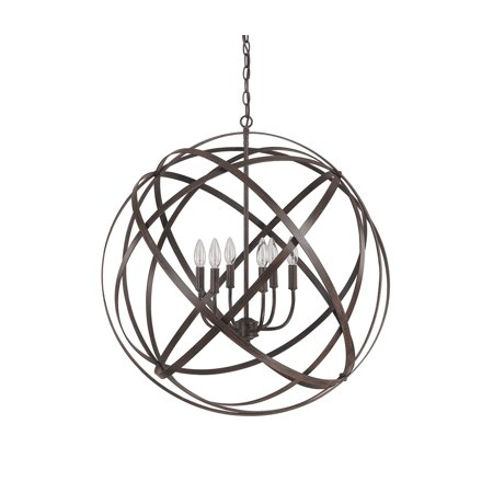 Capital Lighting Axis Russet 6 Light Pendant