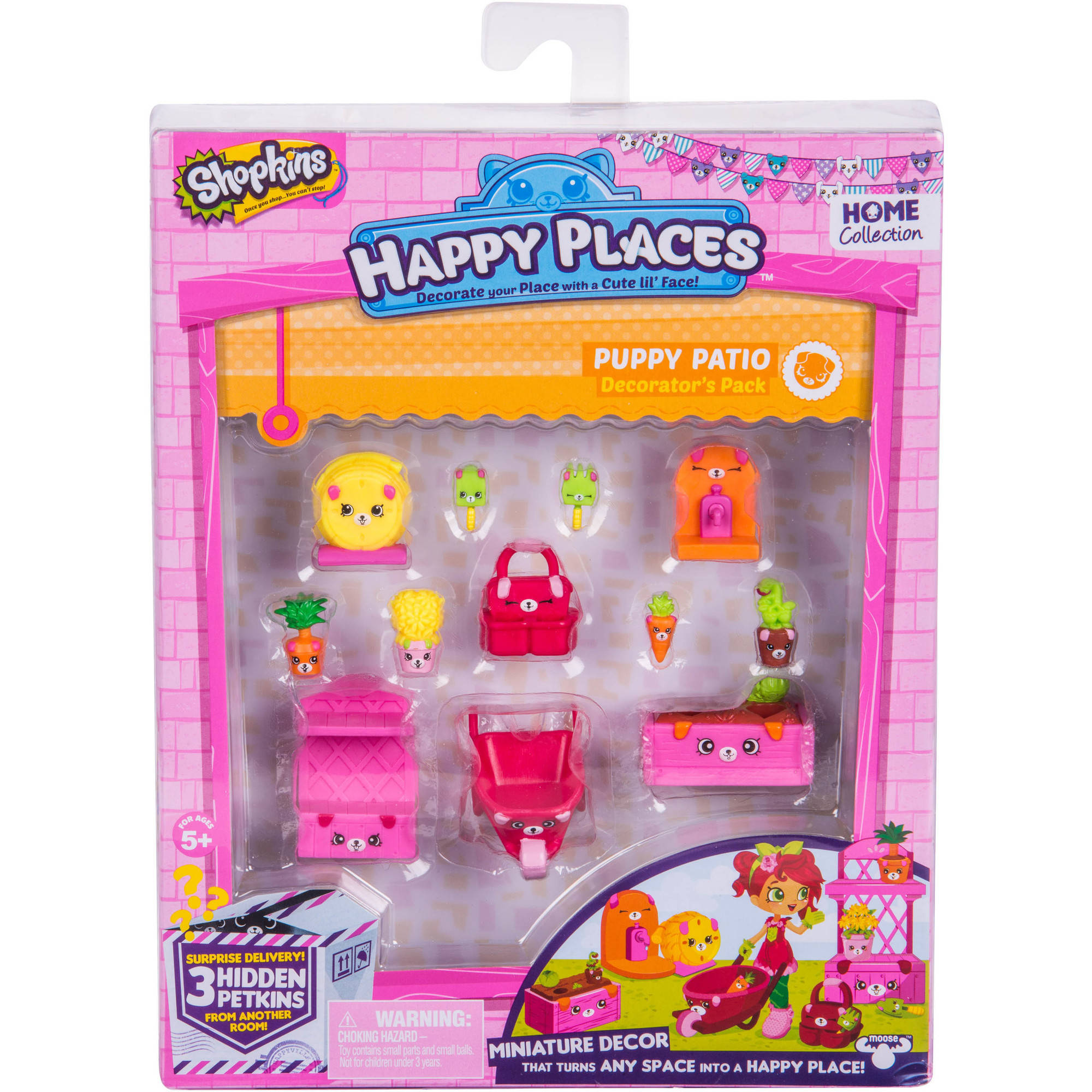 Happy Places Shopkins S2 Decorator Pack, Puppy Patio