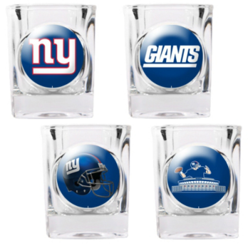 Great American Products New York Giants Shot Glass Set 4pc Collectors Shot Glass Set