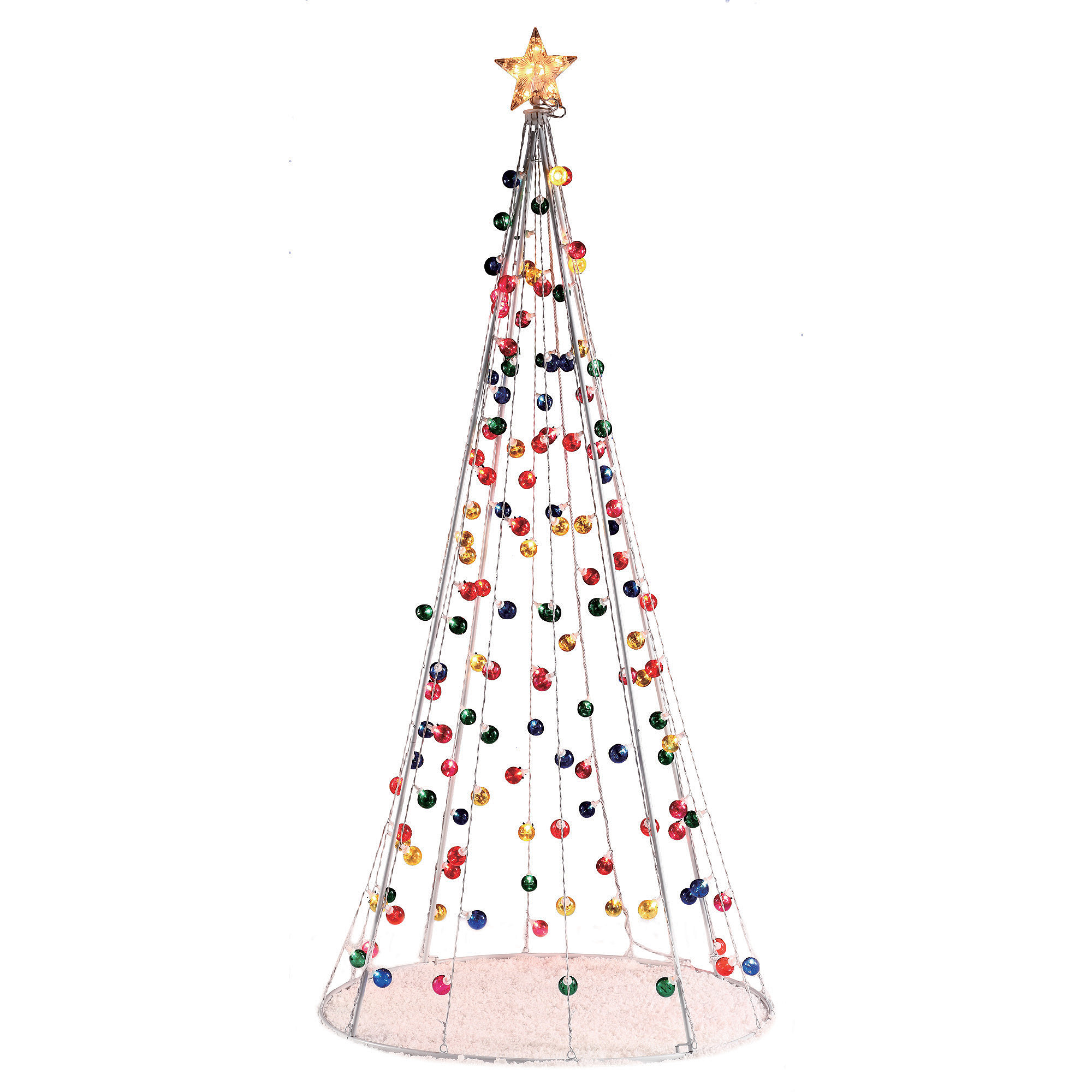 Holiday Time Pre-Lit 7' Multi-Functional Conical Artificial ...