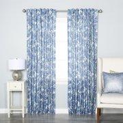 Best Home Fashion, Inc. Blue Paisley Rod Pocket Curtain Panels (Set of 2)