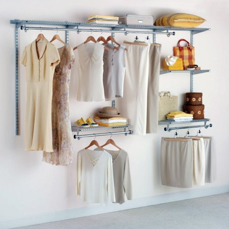 Rubbermaid Configurations Custom Closet Organizer 4'-8' Kit - Titanium | 3G59 ()