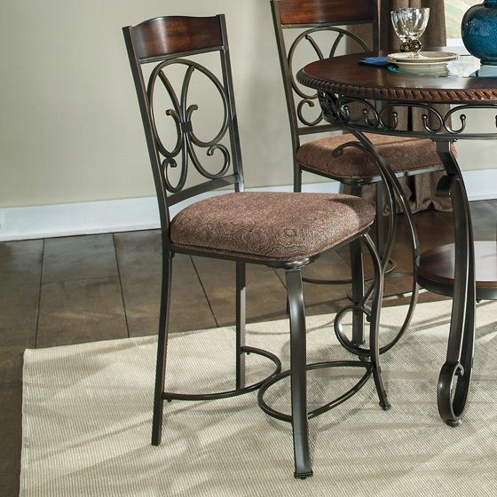 Walmart Dining Chairs: Signature Design By Ashley Glambrey Counter Height Dining