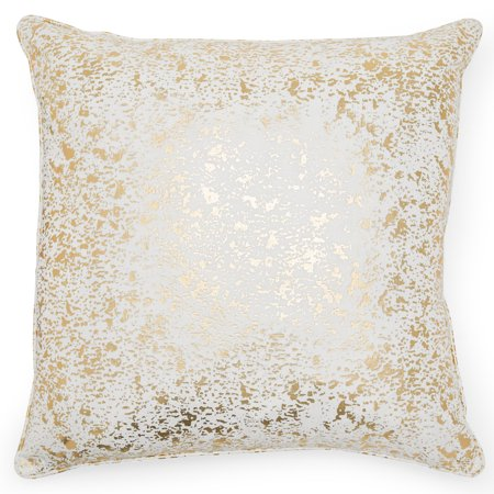 MoDRN Glam Gold Foil Decorative Throw Pillow, 20