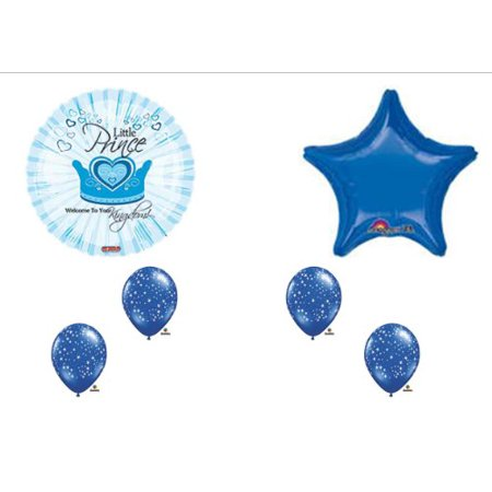 Prince Kingdom Baby Boy Shower Balloons Decorations Supplies