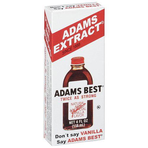 Adams Vanilla Extract, 4 fl oz