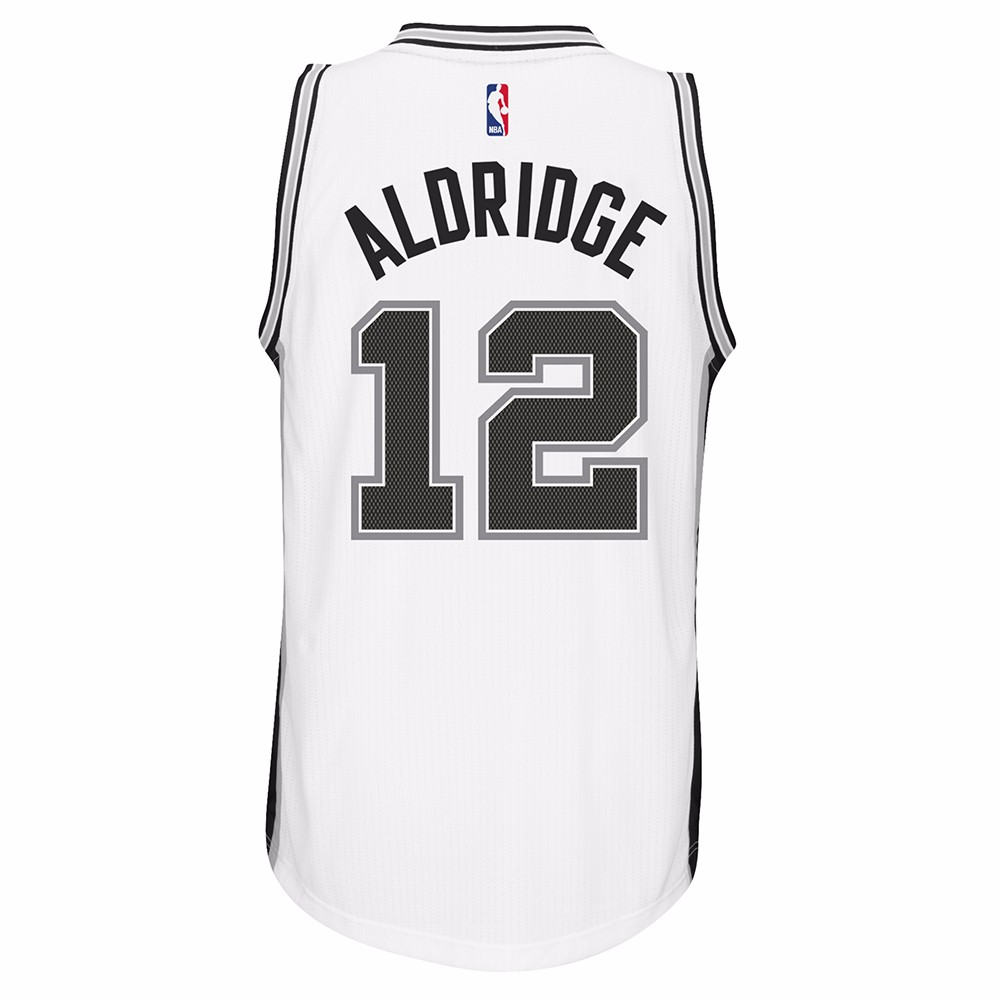 LaMarcus Aldridge San Antonio Spurs NBA Adidas Men White Official Climacool Home Swingman Jersey