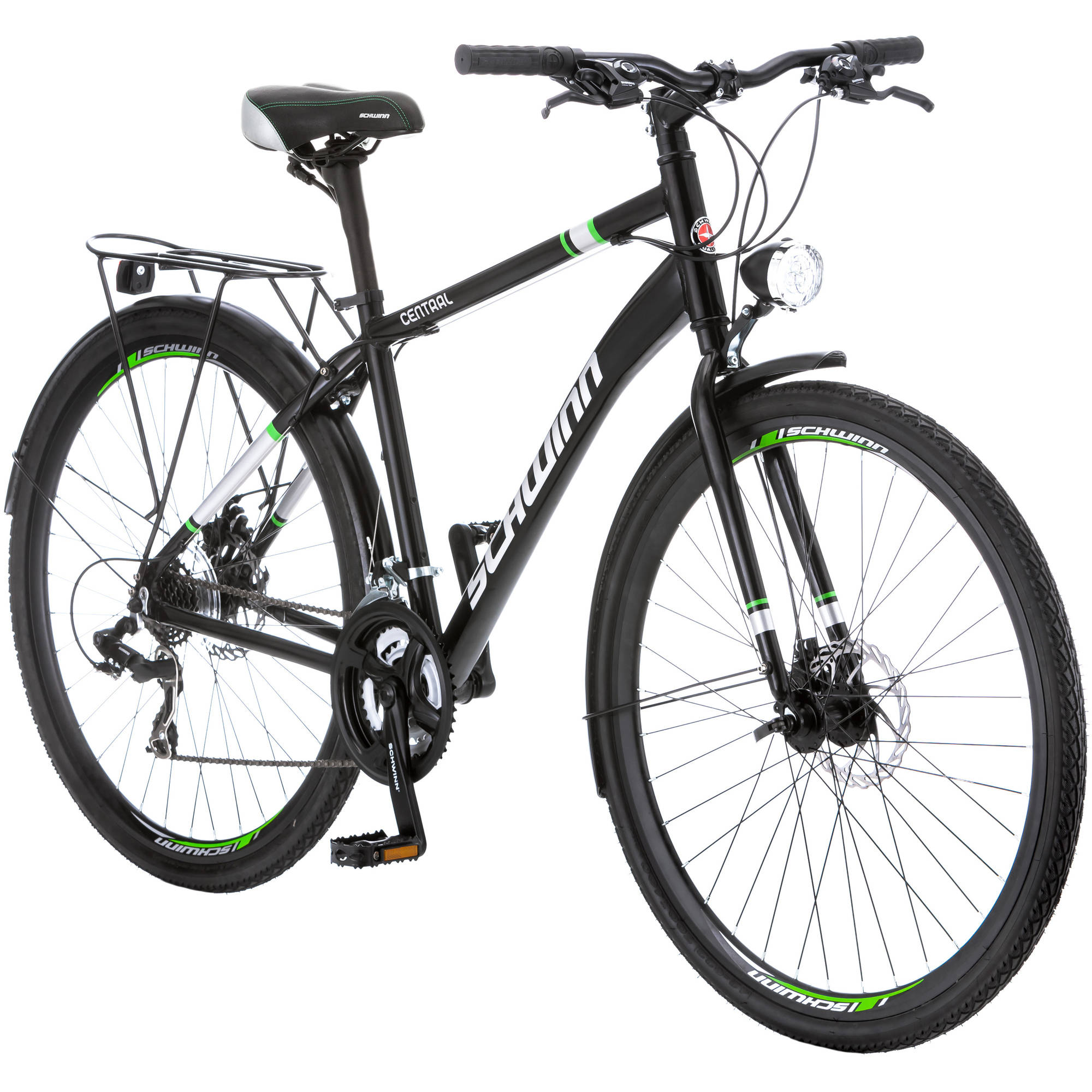 Click here to buy 700C Schwinn Central Men's Commuter Bike, Black by Pacific Cycle.