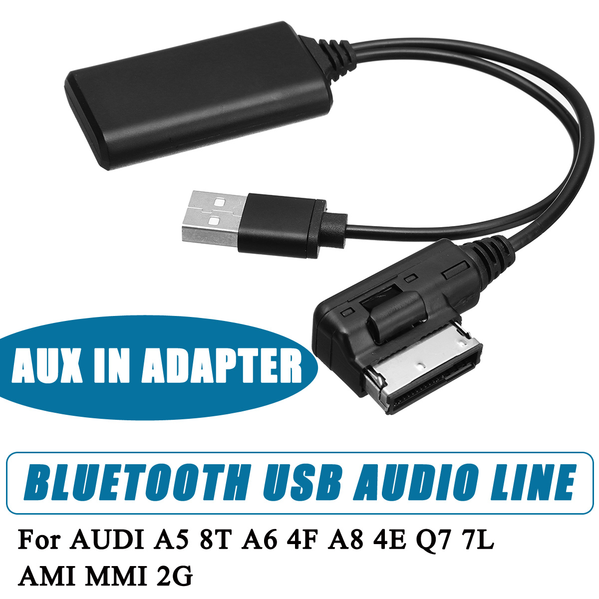 Smartphones Bluetooth USB AUX In Adapter Cable Fit For AUDI A5 8T A6 4F A8 4E Q7