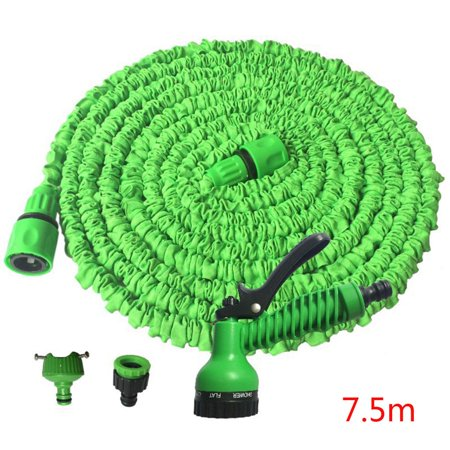 25ft Garden Hose Expandable Flexible Water Hose Plastic Hoses Pipe with Watering Spray for Home ()