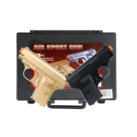 DOUBLE EAGLE P328GB SPRING AIRSOFT DUAL PISTOL COMBO PACK GUN W/ CASE 6MM BB