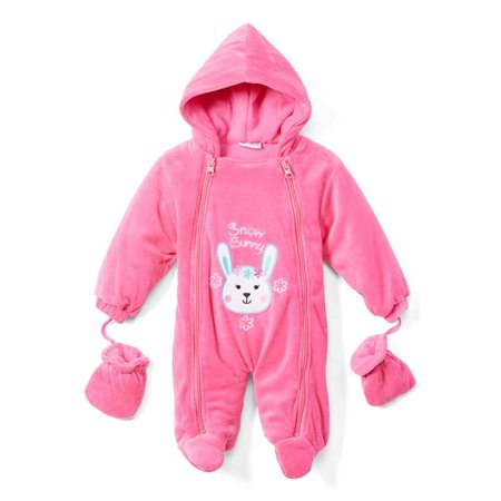 Sweet & Soft 2340404 Snow Bunny Newborn Snowsuit, Fuchsia - 0-9 Months - Case of 12 - image 1 of 1