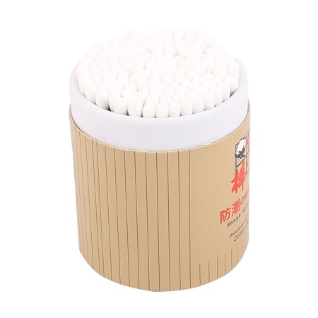 Wood Tube Disposable Double End Cotton Bud 150 PCS w Cylindrical Box