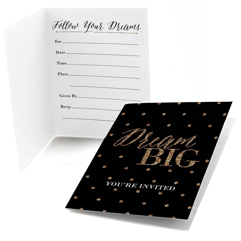 Dream Big - Fill In Graduation Party Invitations (8 count)
