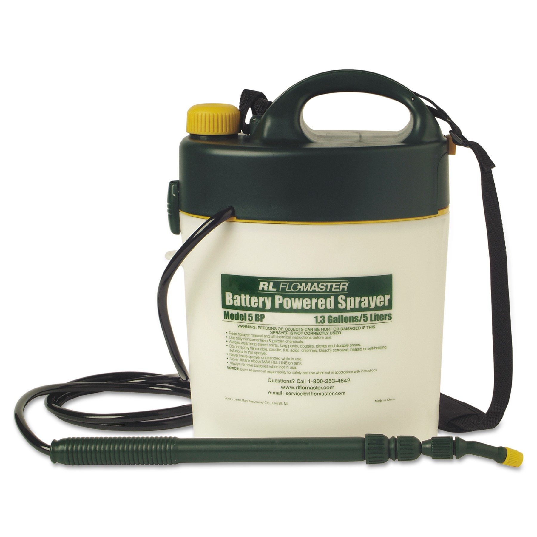 RL Flo-Master Portable Battery Powered Sprayer with Telescoping wand