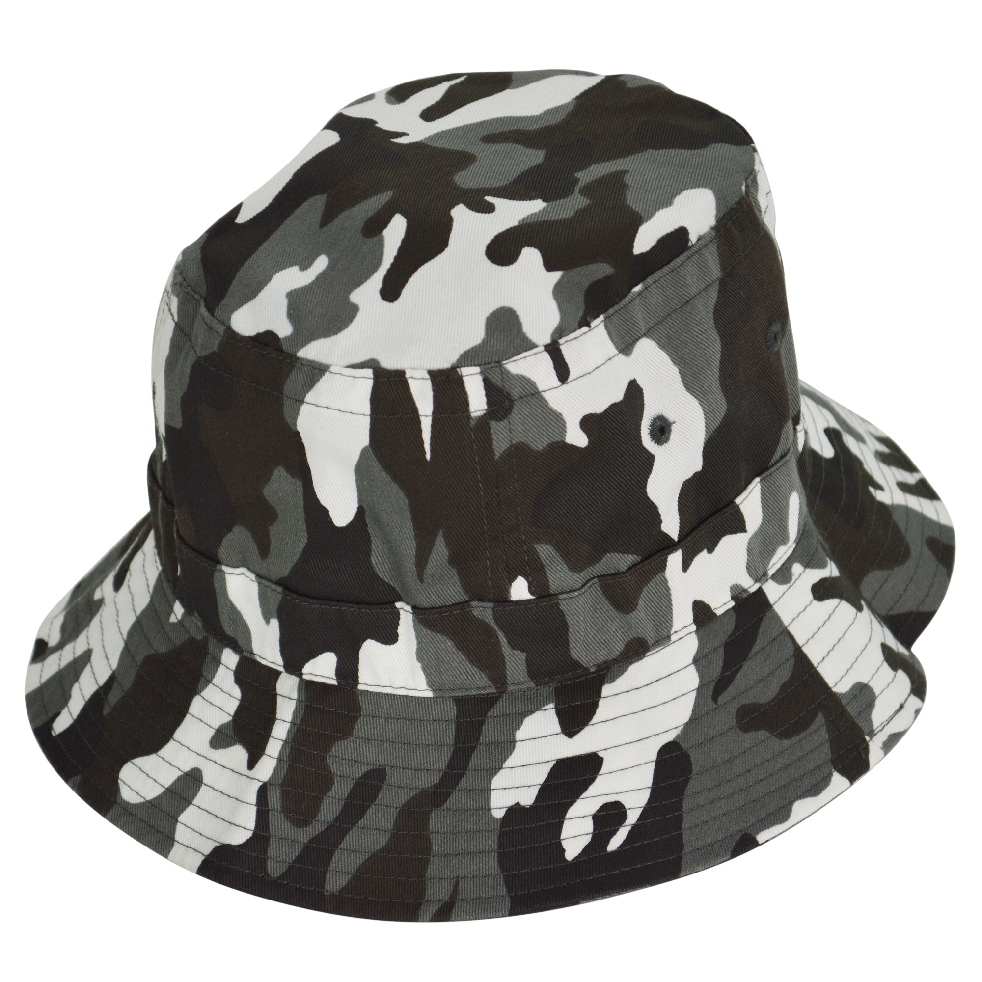 DALIX Gray Camouflage Washed Cotton Bucket Hat -Extra Large 7 3/8 Size