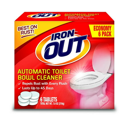 Summit Brands AT12T Iron Out Automatic Toilet Bowl Cleaner, 2-Pack (3 (Cleaner Package)