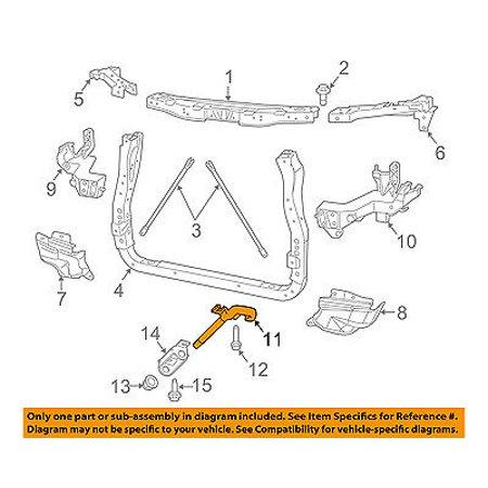 Jeep CHRYSLER OEM Grand Cherokee Radiator Core Support-Tow Hook Right 68140582AA 01 Jeep Cherokee Radiator Support