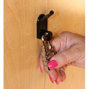 Padlockable Cam Locks, 7840-US19 Matte Black Finish, Pack of 4