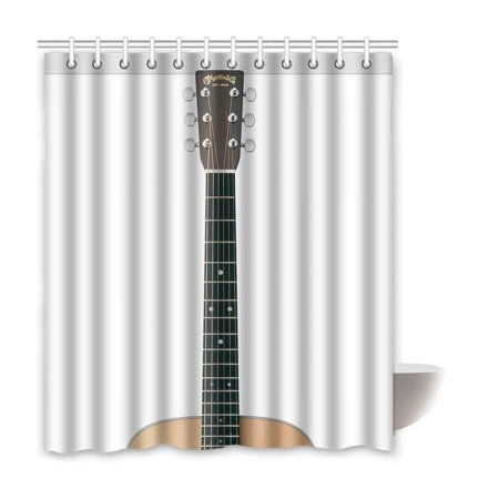 RYLABLUE Bensor Guitar Waterproof Polyester Bathroom Shower Curtain 66x72 Inches - image 2 de 2