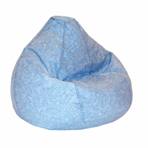 Elite Products Print and Plush Collection Kid's Large Bean Bag- Distressed Denim