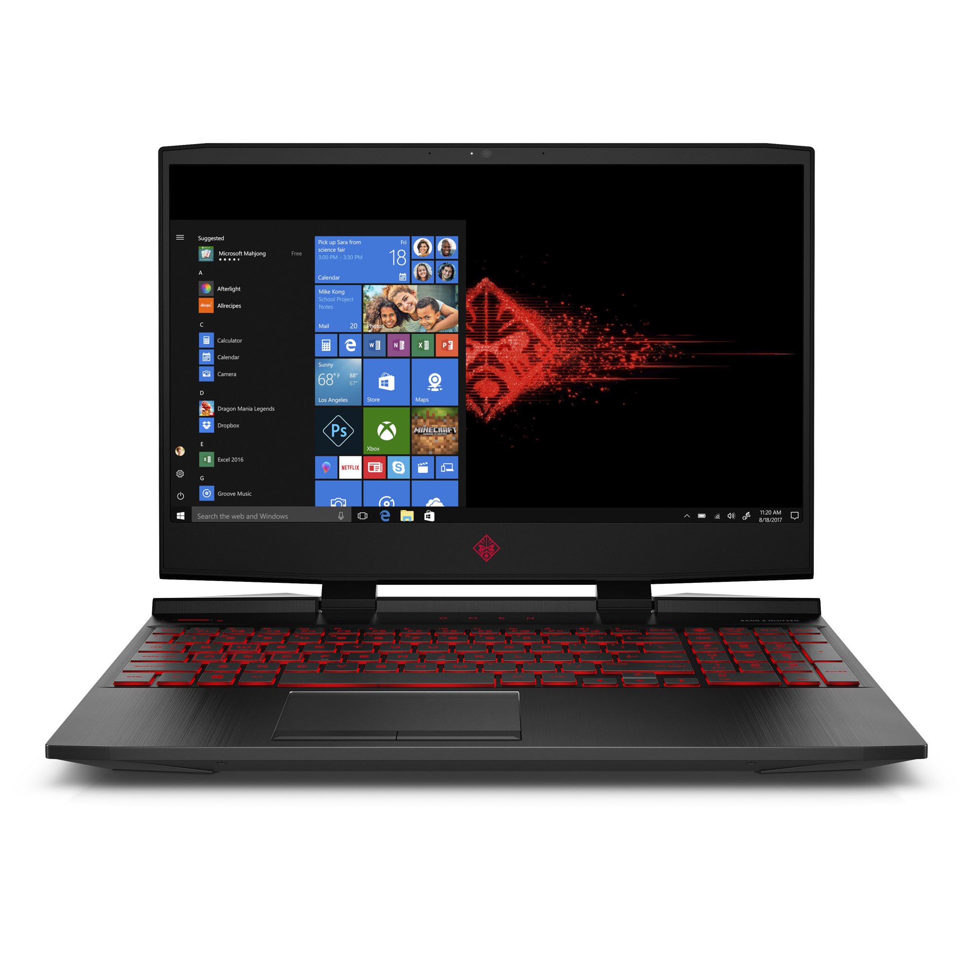 "HP OMEN 15-dc0020nr Gaming Laptop 15.6"", Intel Core i7-8750H, NVIDIA GeForce GTX 1050Ti 4GB, 1TB HDD + 128GB SSD, 12GB RAM, 3WL02UA#ABA"