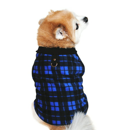 Dog Sweater, Soft Fleece Vest with Leash Ring Pullover Jacket Winter Pet Dog Clothes for Puppy Small Dog Cat Teddy Chihuahua Yorkshire for Christmas ()