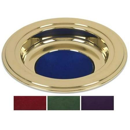 Cbcs Tc173prp Brass Tone Offering Plate  44  Purple