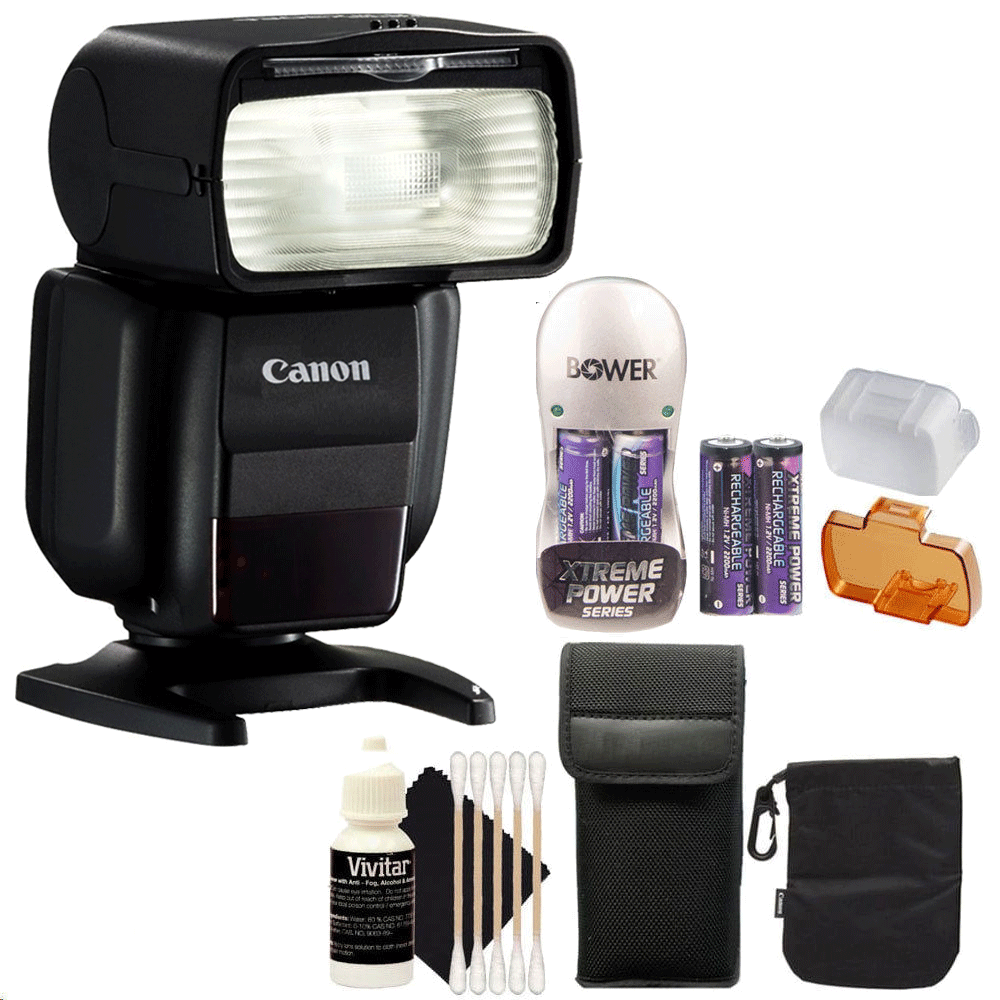 Canon Speedlite 430EX III Flash (Black) + Battery & Charg...