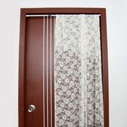 Ccdes Curtain Pole,Extendable Spring Telescopic Shower Bathroom Window Curtain Rail Loaded Pole Rod 55-90cm
