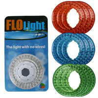 FloLight LED White Wireless Above Ground Swimming Pool Light + 9 Colored Lenses
