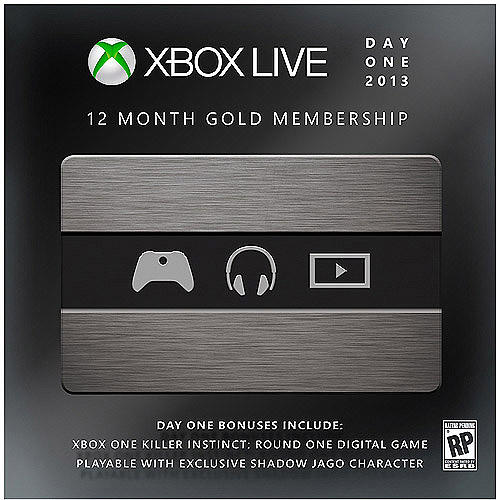 12 Month Xbox Live Gold Membership - Limited Day One Edition with Bonus (Xbox One)