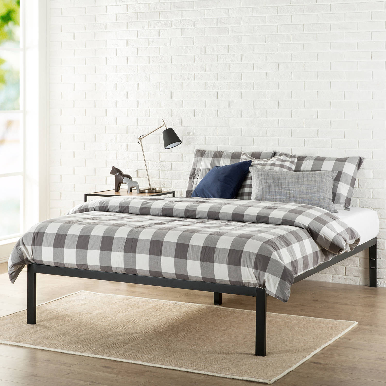 "Modern Studio 14"" Metal Platform Bed, Multiple Sizes"