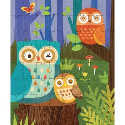 64-PIECE TIN CANISTER PUZZLE: OWL - Owl Puzzle