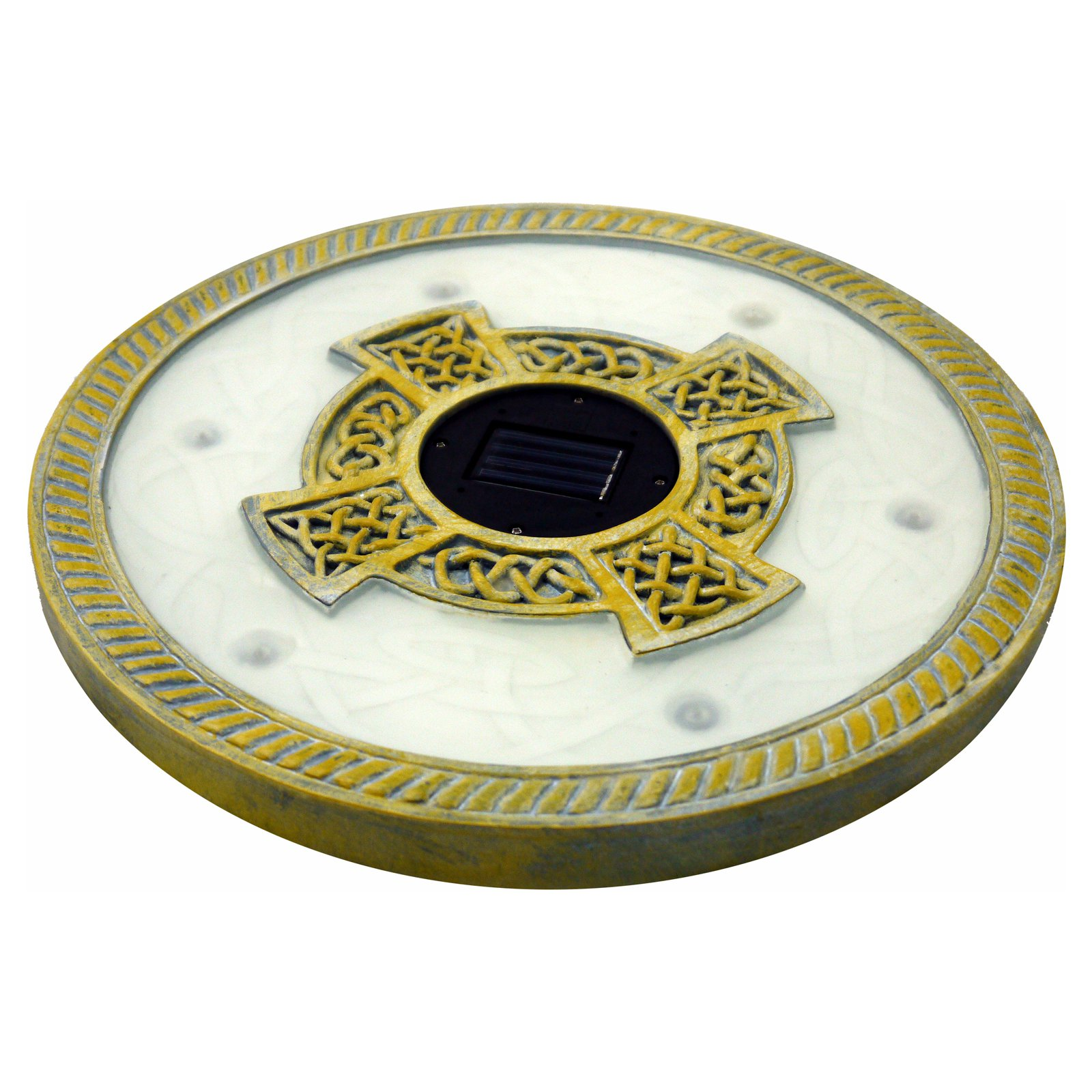 Homebright Solar Power 6 LED Round Stepping Stones - Set of 3