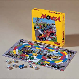HABA Monza - A Car Racing Beginner's Board Game Encourages Thinking Skills - Ages 5 and Up (Made in Germany) - image 1 of 1