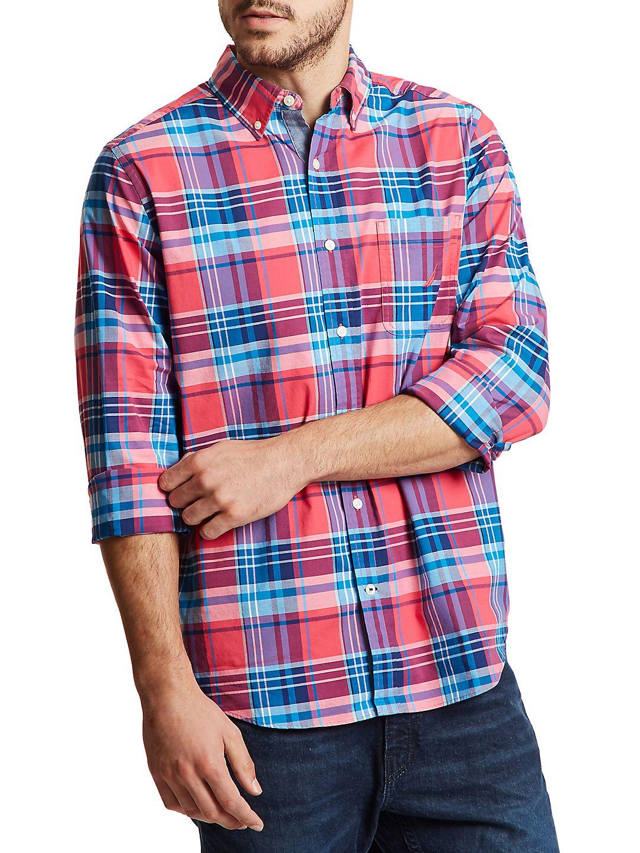 Classic-Fit Plaid Button-Down Shirt
