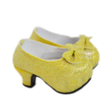 137126975 My Brittany's Belle Yellow High Heel Shoes with Front Bows for American  Girl Dolls- 18 Inch Doll Shoes - Walmart.com
